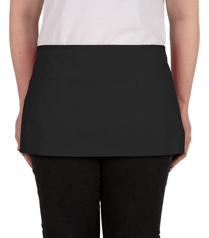 Port Authority Stain Release Waist Apron - Screen Printed - Black