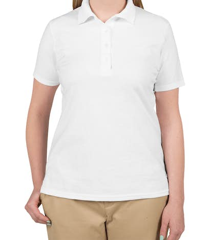 Hanes Women's X-Temp Polo - White