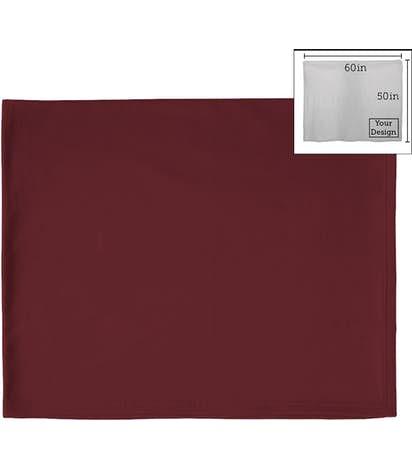 Port & Company Sweatshirt Blanket - Maroon