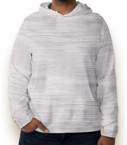 Bella + Canvas Ultra Soft Pullover Hoodie - Light Grey Marble