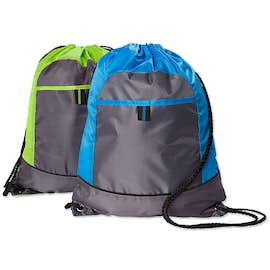 Port Authority Pocket Drawstring Bag