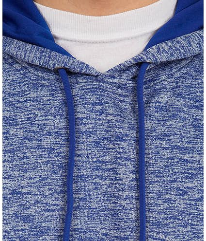 9aa40f84a3b Sport-Tek Electric Heather Performance Pullover Hoodie - Other View  4