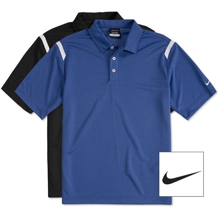 91a9842e Design Custom Embroidered Nike Golf Dri-FIT Shoulder Stripe ...