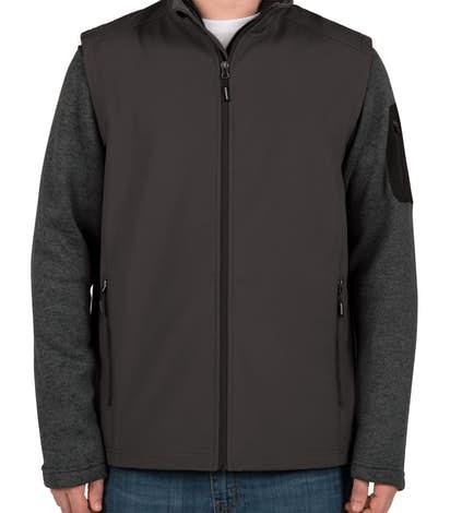 Core 365 Fleece Lined Soft Shell Vest - Carbon