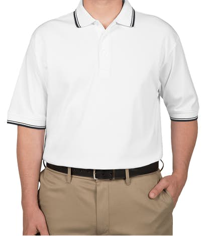 Canada - Devon & Jones Tipped Pima Interlock Polo - White / Navy