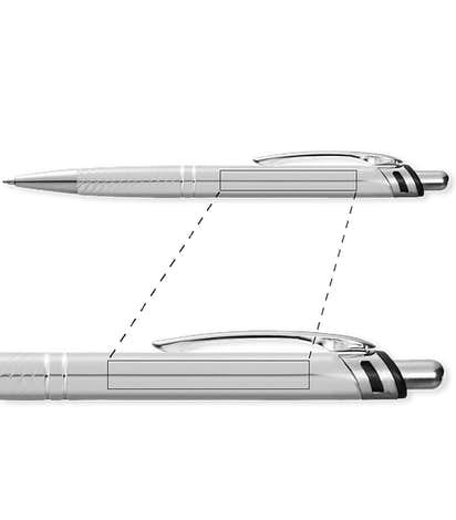 Annabelle Ballpoint Pen (black ink) - Silver