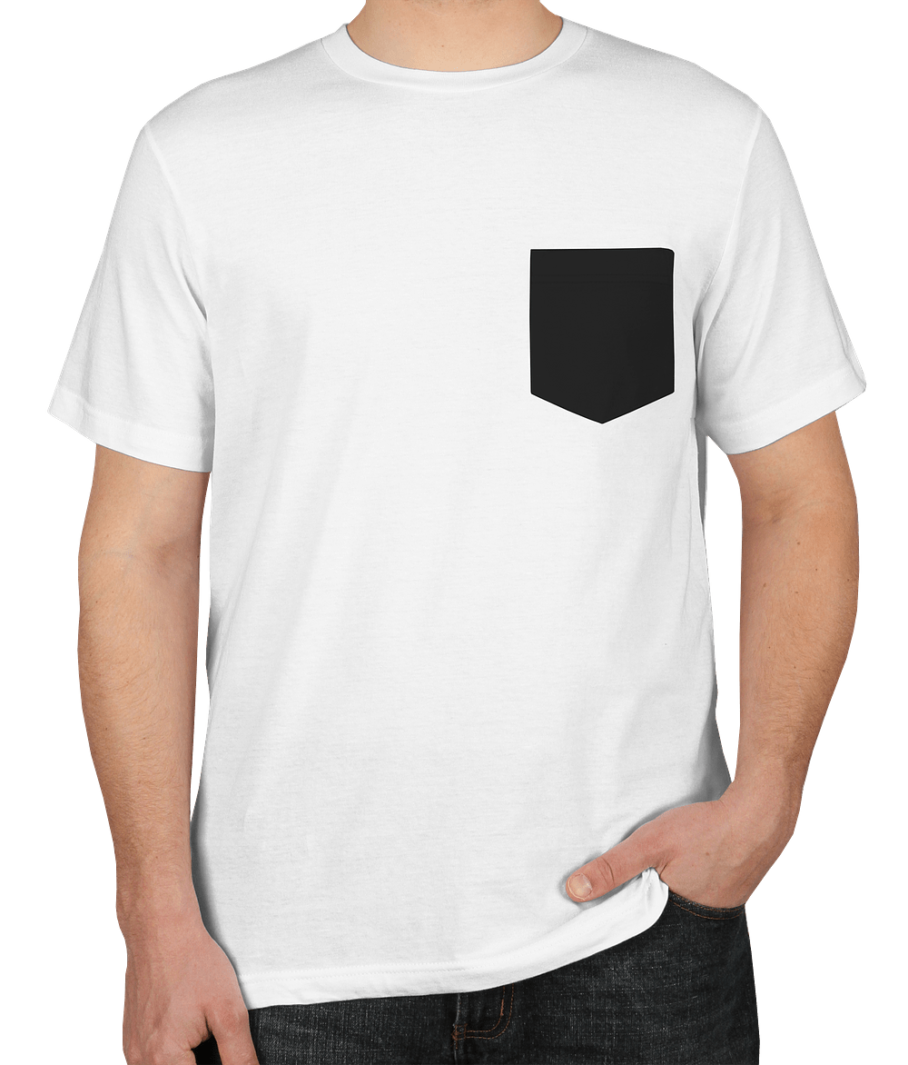 White Shirt Design For | Custom Bella Canvas Jersey Contrast Pocket T Shirt Design Short