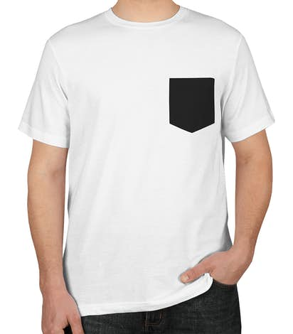 Custom Bella Canvas Jersey Contrast Pocket T Shirt Design Short