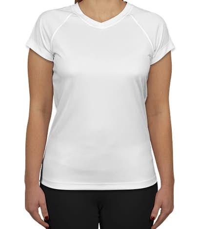 Champion Women's V-Neck Performance Shirt - White
