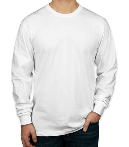 Canada - American Apparel Long Sleeve T-shirt - White