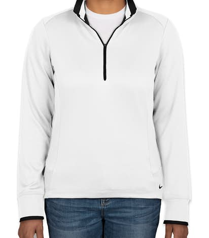 Nike Golf Women's Dri-FIT Half Zip Performance Pullover - White / Black