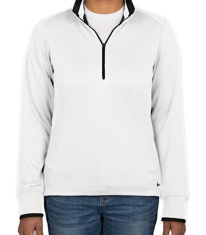 Nike Golf Women's Dri-FIT Half Zip Performance Pullover - White / Black