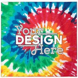 Valucap 100% Cotton Tie-Dye Bandana (Centered Design)