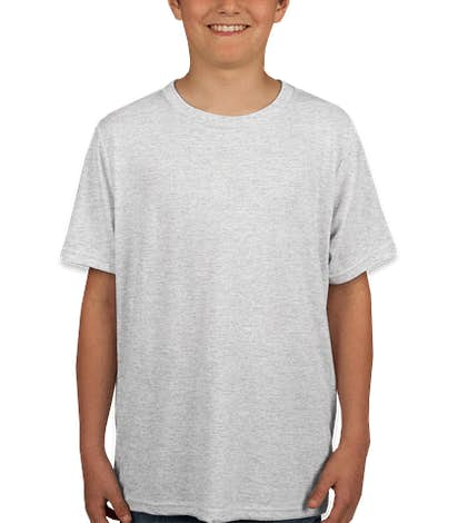 Next Level Youth Tri-Blend T-shirt - Heather White