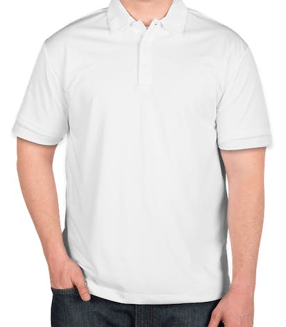 Port Authority Silk Touch Performance Polo - Embroidered  - White