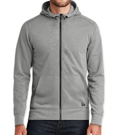 New Era Tri-Blend Zip Hoodie - Shadow Grey Heather