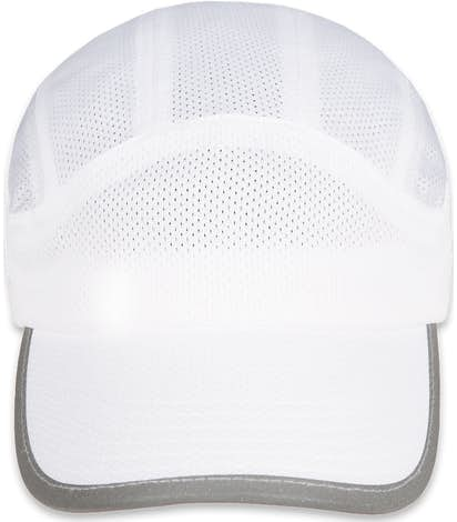Big Accessories Mesh Performance Running Hat - White