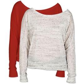 Bella + Canvas Women's Flowy Long Sleeve Off Shoulder T-shirt