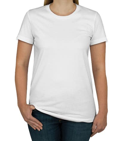 American Apparel USA-Made Juniors Jersey T-shirt - White