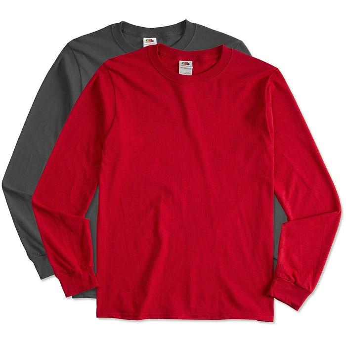 eb5f8bb50cef Custom Canada - Fruit of the Loom 100% Cotton Long Sleeve T-shirt ...