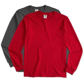 Canada - Fruit of the Loom 100% Cotton Long Sleeve T-shirt