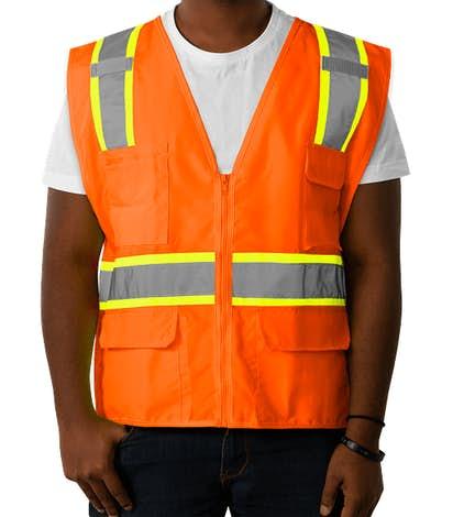 ML Kishigo Class 2 Contrast Safety Vest - Orange