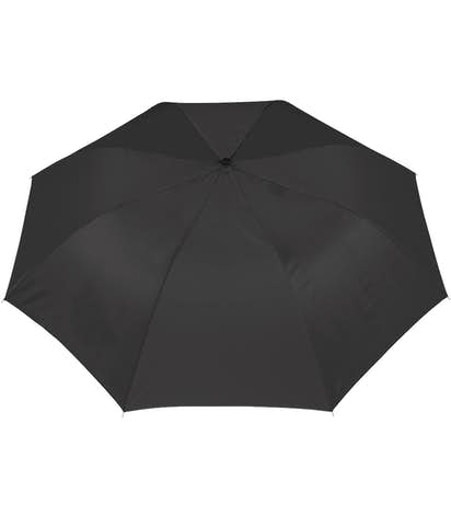 "Arc Auto Open Solid Telescopic 44"" Folding Umbrella - Black"