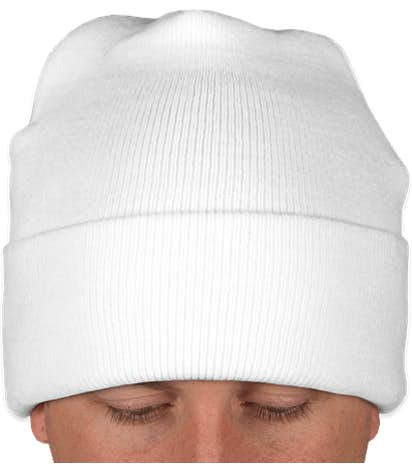 Yupoong Solid Cuff Beanie - White