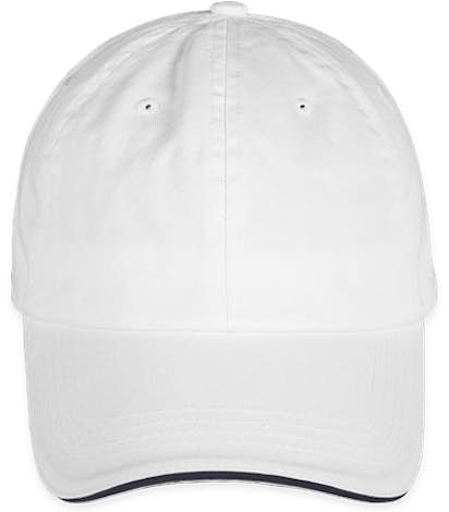 Bayside USA-Made Sandwich Bill Hat - White / Navy