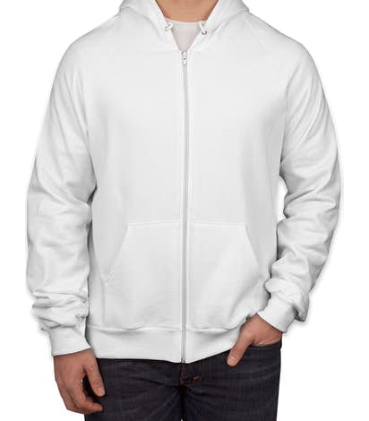 7aedcf17b93 Design Custom Printed American Apparel Zip Hoodies Online at CustomInk