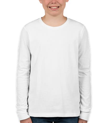 Bella + Canvas Youth Long Sleeve Jersey T-shirt - White