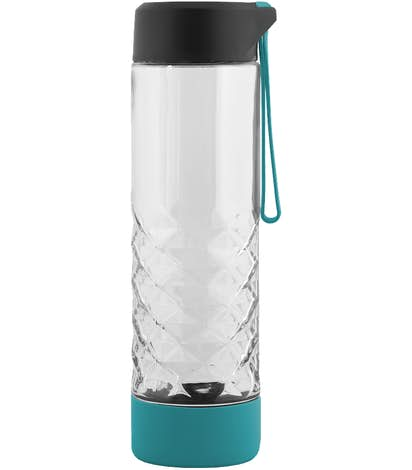 20 oz. Geometric Glass Bottle - Turquoise