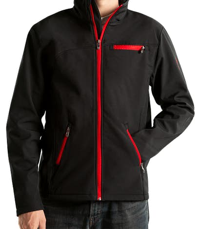 Spyder Transport Soft Shell Jacket - Black / Red