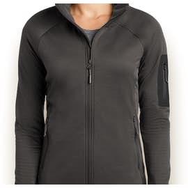The North Face Women's Mountain Peaks Full Zip Fleece Jacket - Color: Asphalt Grey