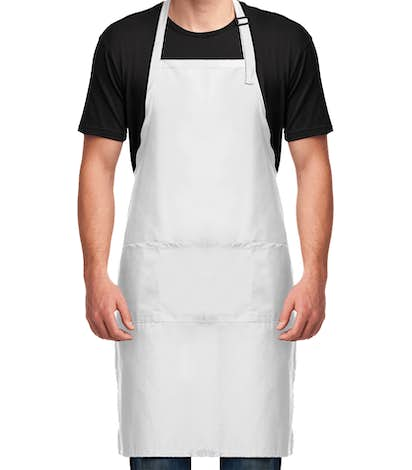 Stain Release Extra Long Full Length Apron - White