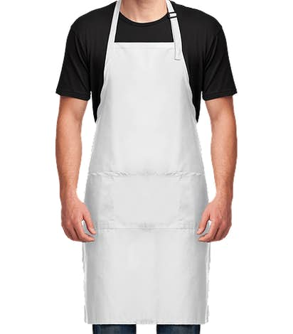 Port Authority Stain Release Extra Long Full Length Apron - White