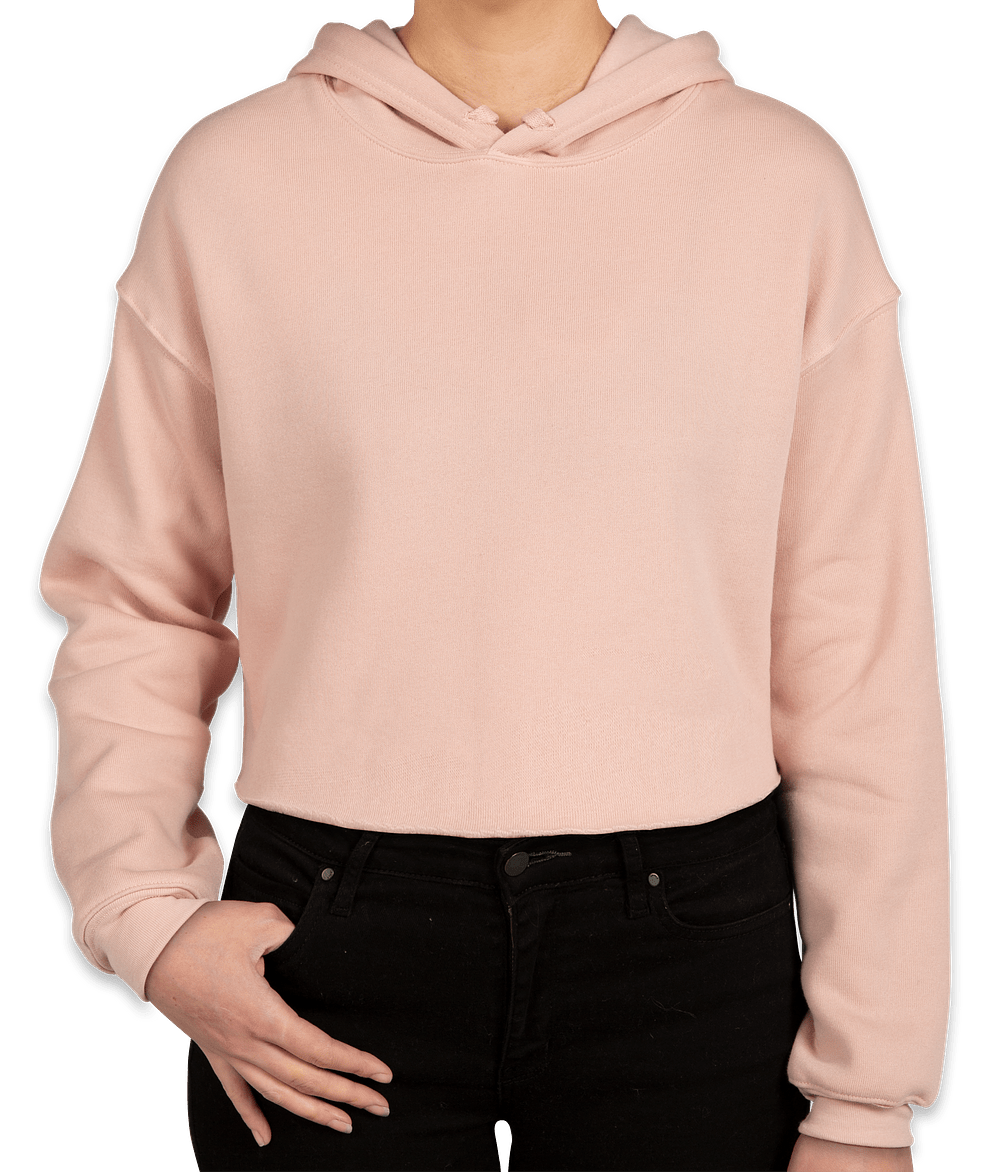 9a56a5f5fb0ad Custom bella canvas women drop shoulder cropped hoodie design png 412x470  Brand pink crop top hoodie