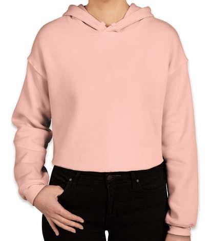 72b8e7a742e8bd Custom Bella + Canvas Women s Drop Shoulder Cropped Hoodie - Design ...
