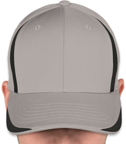 Yupoong Flexfit Colorblock Performance Hat - Grey / Black