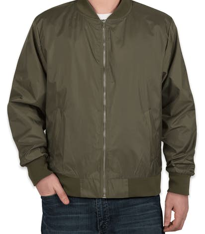 Charles River Lightweight Flight Jacket - Olive