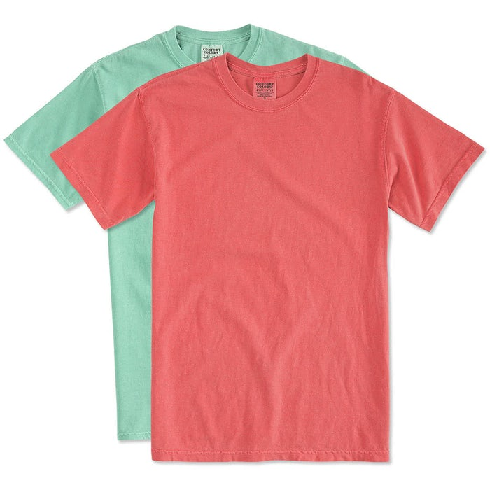 2af982f5a153 Custom Comfort Colors 100% Cotton T-shirt - Design Short Sleeve T ...