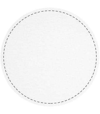 3.75 in. Circle Cardboard Coaster (.055 weight) - White