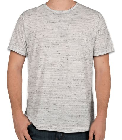 Bella + Canvas Melange Blend T-shirt - White Marble