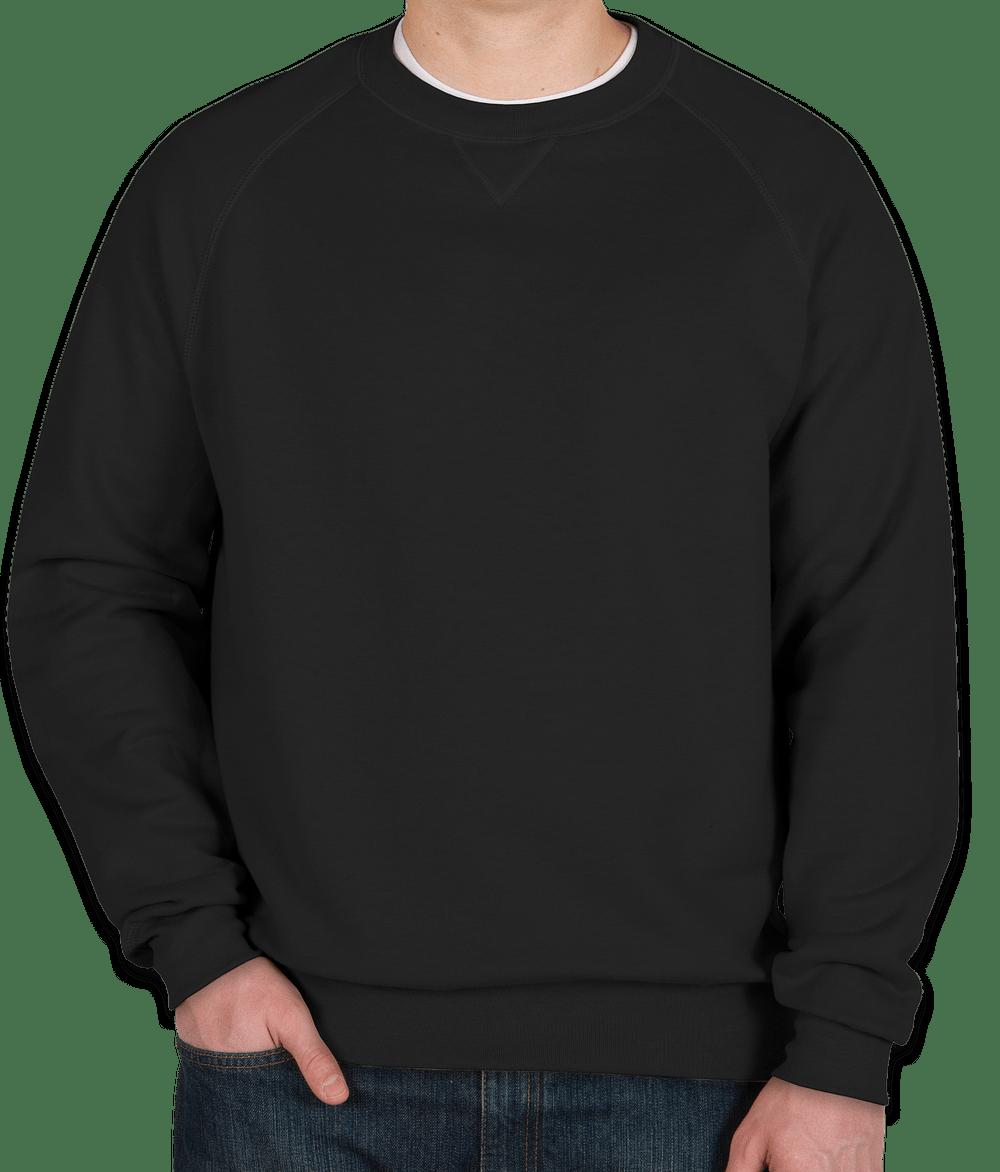 custom hanes nano crewneck sweatshirt - design crewneck sweatshirts
