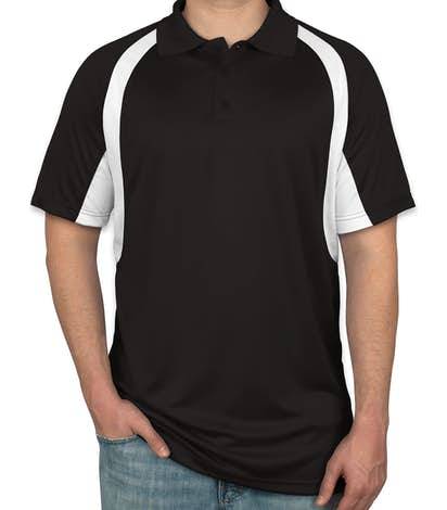 Badger B-Dry Contrast Performance Polo - Black /  White