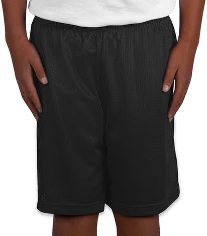 Sport-Tek Youth Mesh Shorts - Black