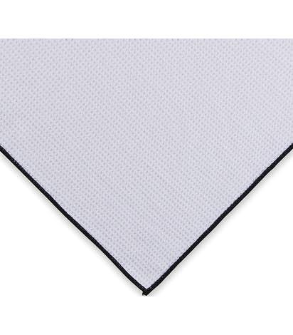Microfiber Waffle Weave Golf Towel - White / Black / Blue