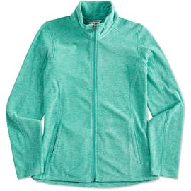 Port Authority Women's Heather Microfleece Full Zip Jacket