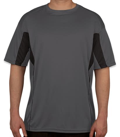 Badger Drive Contrast Performance Shirt - Graphite/Black