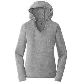New Era Women's Tri-Blend Long Sleeve Hooded Performance Shirt